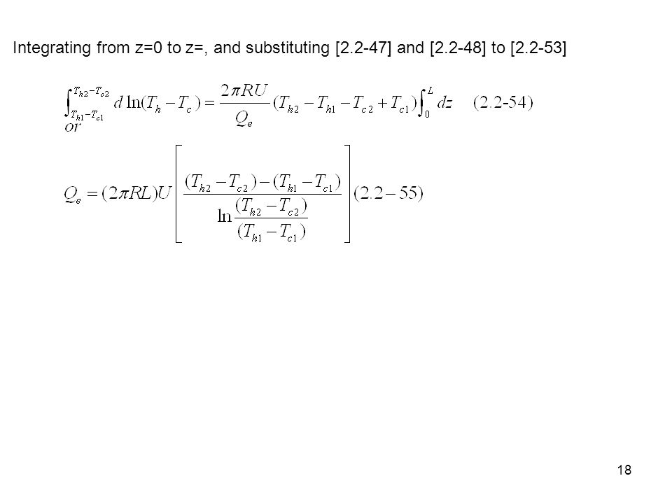 Integrating from z=0 to z=, and substituting [2. 2-47] and [2